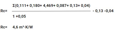 Voorbeeld Rc waarde berekenen